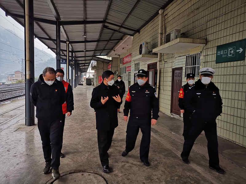 罗朝峰到盐津调研新型冠状病毒感染肺炎疫情防控工作