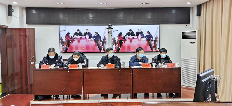 罗朝峰同志主持召开疫情卡点防控检测视频调度会